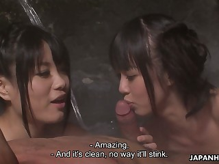 Avant-garde Japanese orgy with really voracious for twine Asakura Kotomi