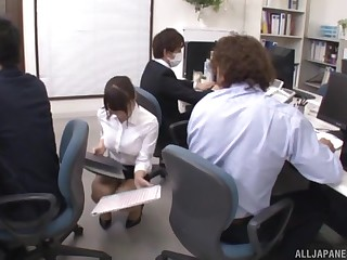 Hardcore office fuck with Japanese Ayami Shunka in a tight wholesale