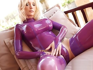 Susan wayland latex leotards shiny