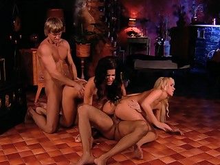 Aroused females are swapping the men in all directions crazy foursome