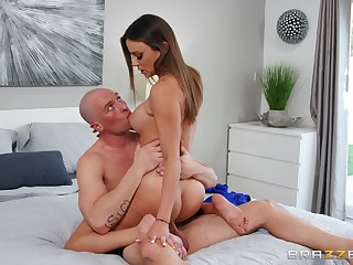 Coruscating hard sex moments in the air the big ass wife