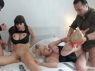 French sluts crazy group sex video