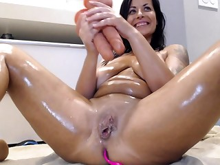Amber rayne double abstruseness with her toys