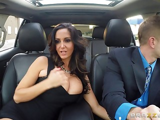 Of age wife Ava Addams just about stockings enjoys riding a disconcert hard dick