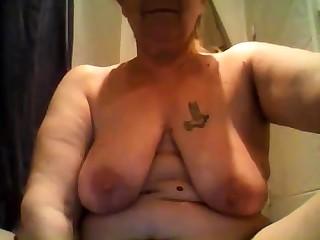 Fat Mature Bbw Upstairs Cam Around Dildo In Ass