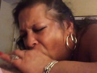 This obese hooker loves to please and she is so enthusiastic about oral sex