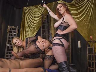Bella Rossi & Cherie DeVille in Getting of Cherie DeVille Part 2: Lesbian Cuckolding - KinkVR