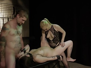 Obedient prego slut leaves this couple to fuck will not hear of merciless