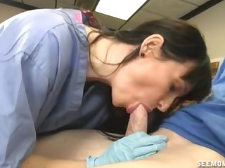 Be responsible for sucks younger patient's huge dick like a star