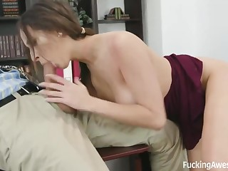 Horny academician likes to fuck his hot students and acquire balls deep blowjobs from them