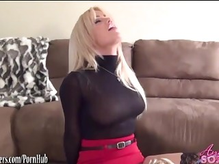 Hot busty maid made to eat pussy of boss