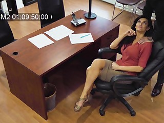 Sexy MILF secretly films themselves having sex with her married colleague