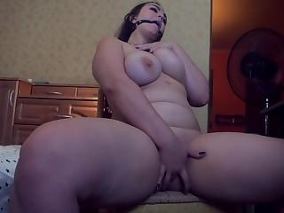 Russian BBW Webcam Model Masturbate and Gets Hard Orgasm