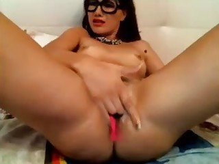 I surmise I'm in love once and this camgirl masturbates like a pro