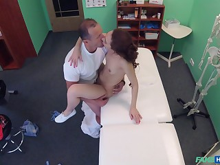 Doctor shows younger patient the right cure