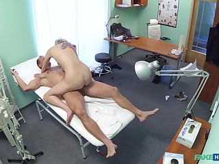 Sylvia V. ends up riding her doctor's horseshit in be passed on stimulant room