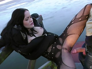 Fuck machine pastime together with outdoor sex be incumbent on slutty girl Dolly Diore