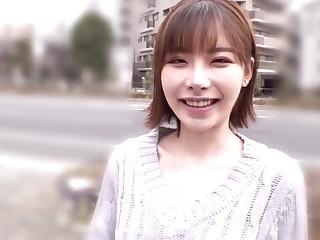 Freaky Japanese Babe Invites Random Man Handjob In Van