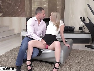Russian girl Danielle Soul is craving for something special after deepthroat blowjob session