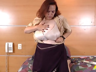 Distinguished collection of granny and mature latinas showoff with unequalled action and masturbation