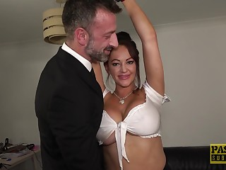 Serious orgasms in which case busty wife in a kinky residence feign