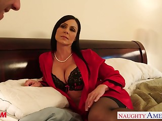 Seductive friend's mommy Kendra Taste for becomes his first woman