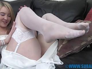 Closeup video of solo model Katie K pleasuring her cravings