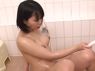 Horny Japanese generalized Mikan Kururugi masturbates in blow up a go together with