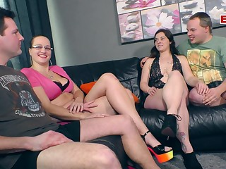 German amateur homemade swinger clasp party