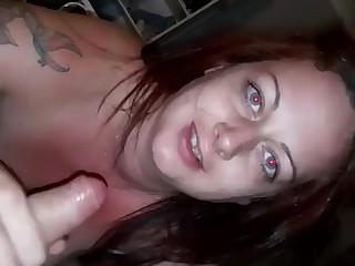 Horny Wife Sucks Husbands Big Dick And Deep Throats Him