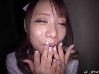 Japanese nurse devours load of shit in sexy midnight fetish